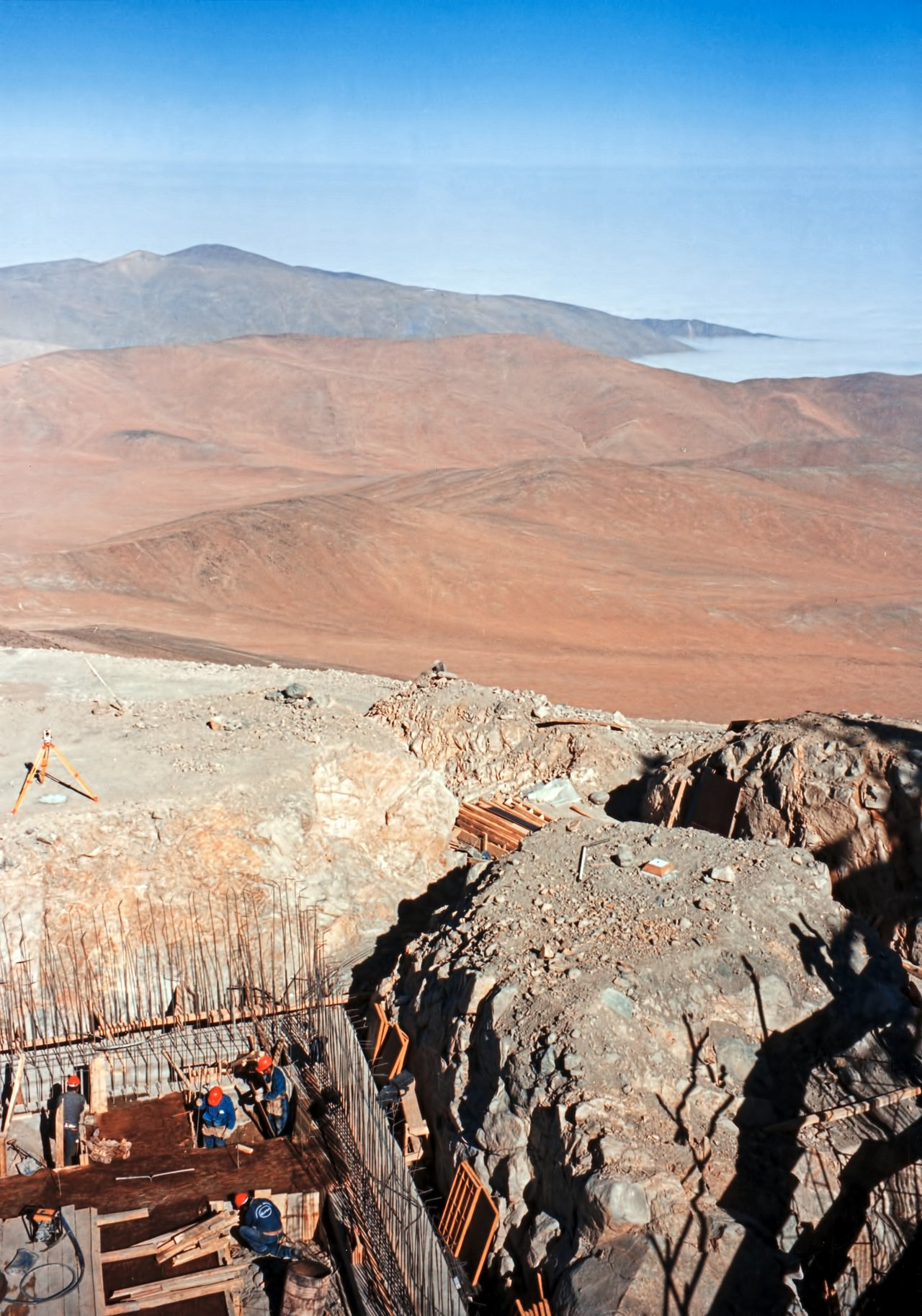 Building the Unit Telescope foundations