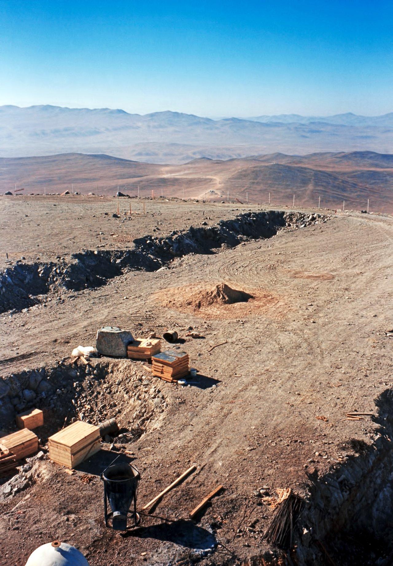 Excavations at Paranal