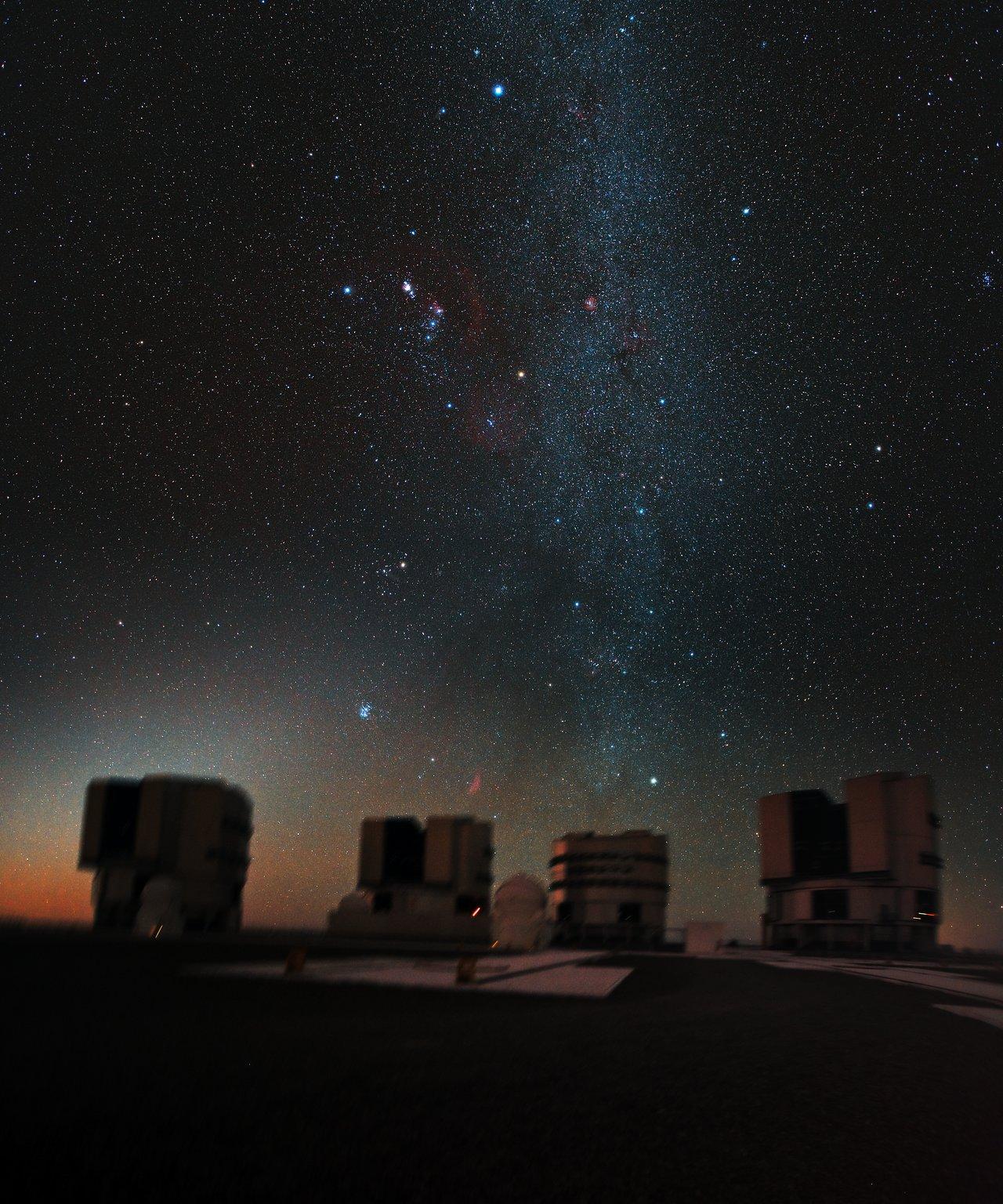 Orion above the VLT