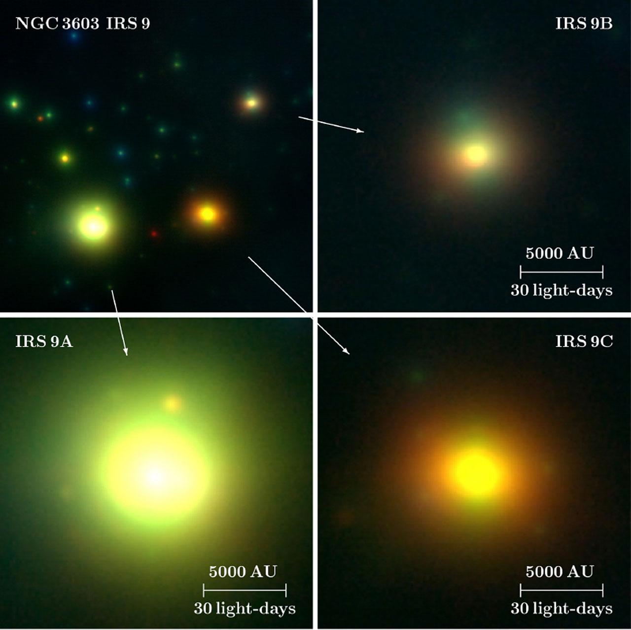 The High-Mass Protostars IRS 9A-C