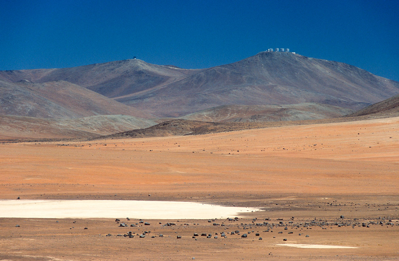 Paranal's Telescopes in the Distance