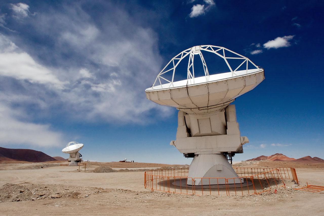 ALMA Antennas on Chajnantor