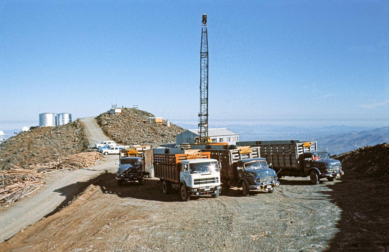 Bau des 3,6-Meter-Teleskops der ESO