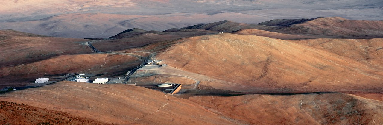 The Paranal basecamp from above