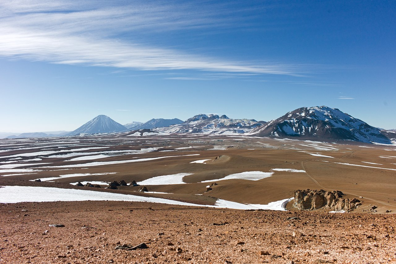ALMA Dwarfed by Mountain Peaks