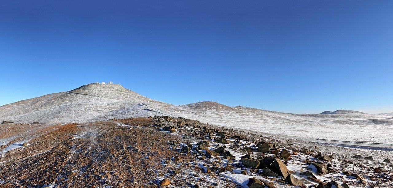 La neve cade sul deserto di Atacama