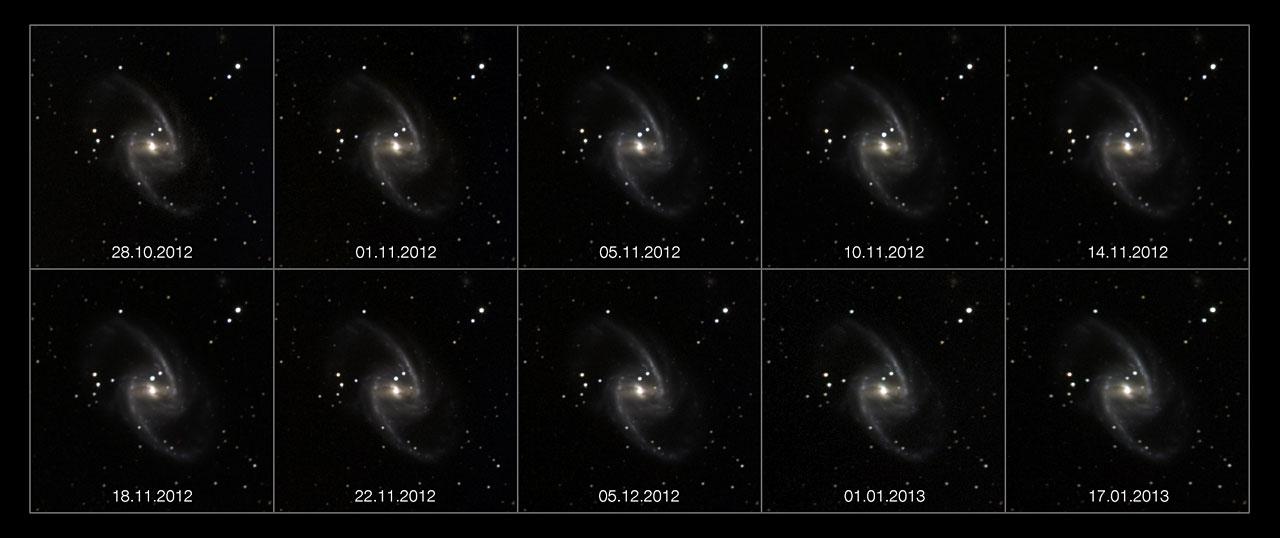 Anstieg und Abfall einer Supernova
