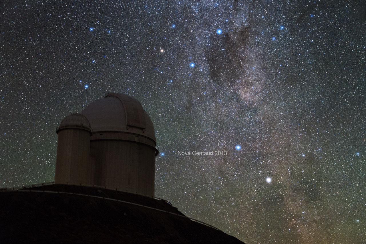Nova Centauri 2013 sedd från La Silla