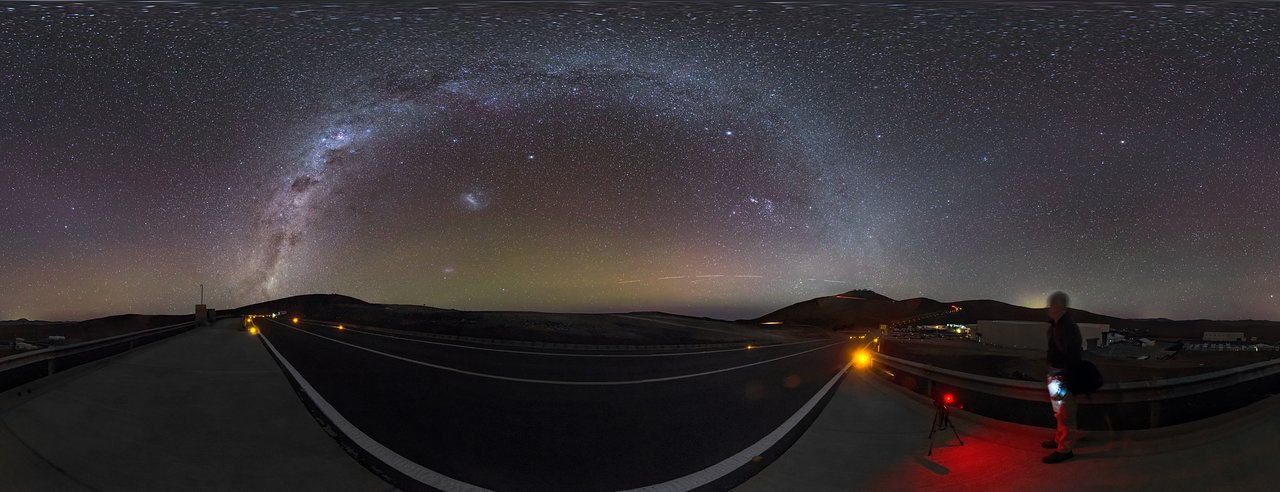 A Milky Arc Over Paranal
