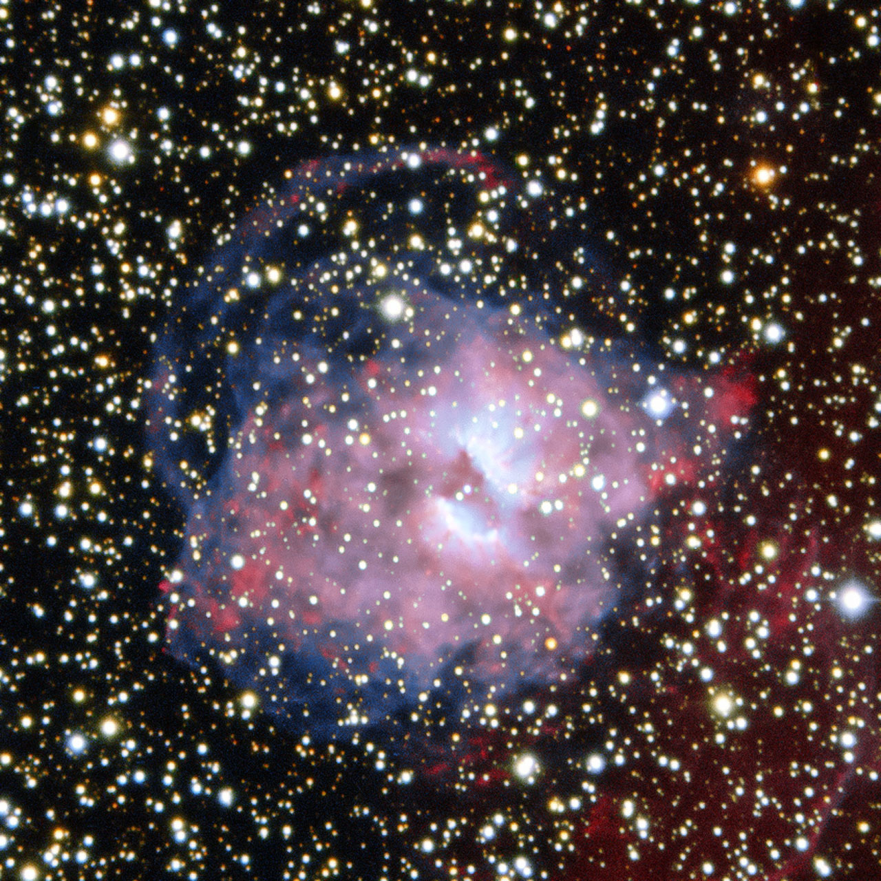 Uma nebulosa planetária dividida