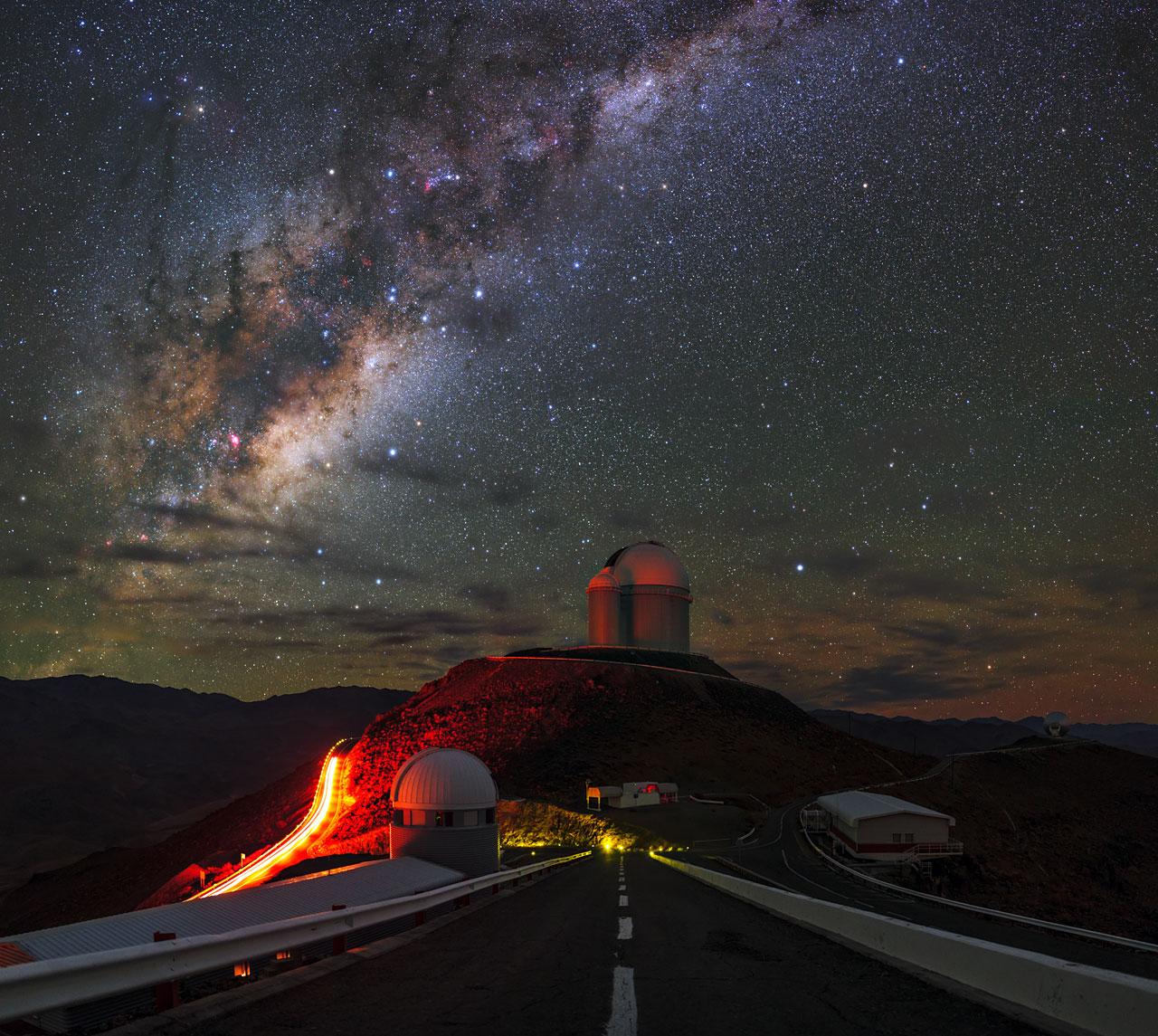 Estrada para a Via Láctea a partir de La Silla