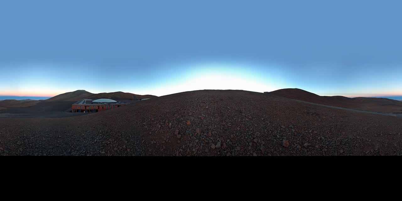 Panoramic view of Paranal