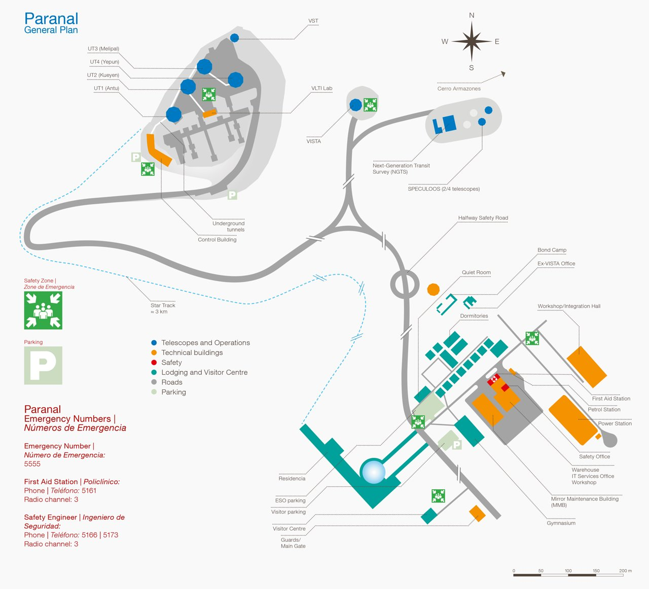 Paranal map and safety