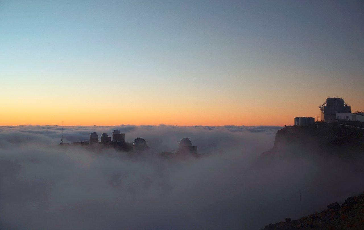 La Silla Observatory among the clouds