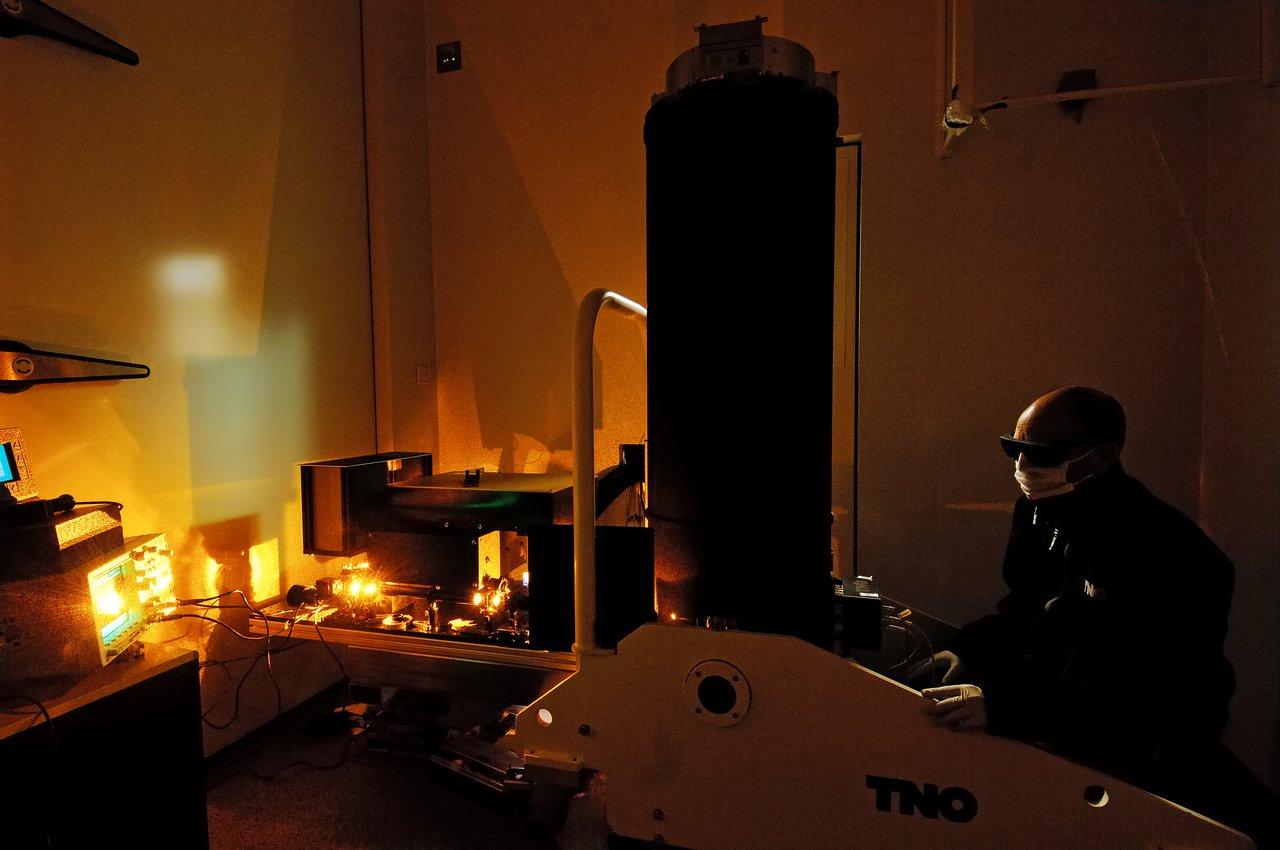 High Power Laser test of VLT 4LGSF Laser Launch Telecope