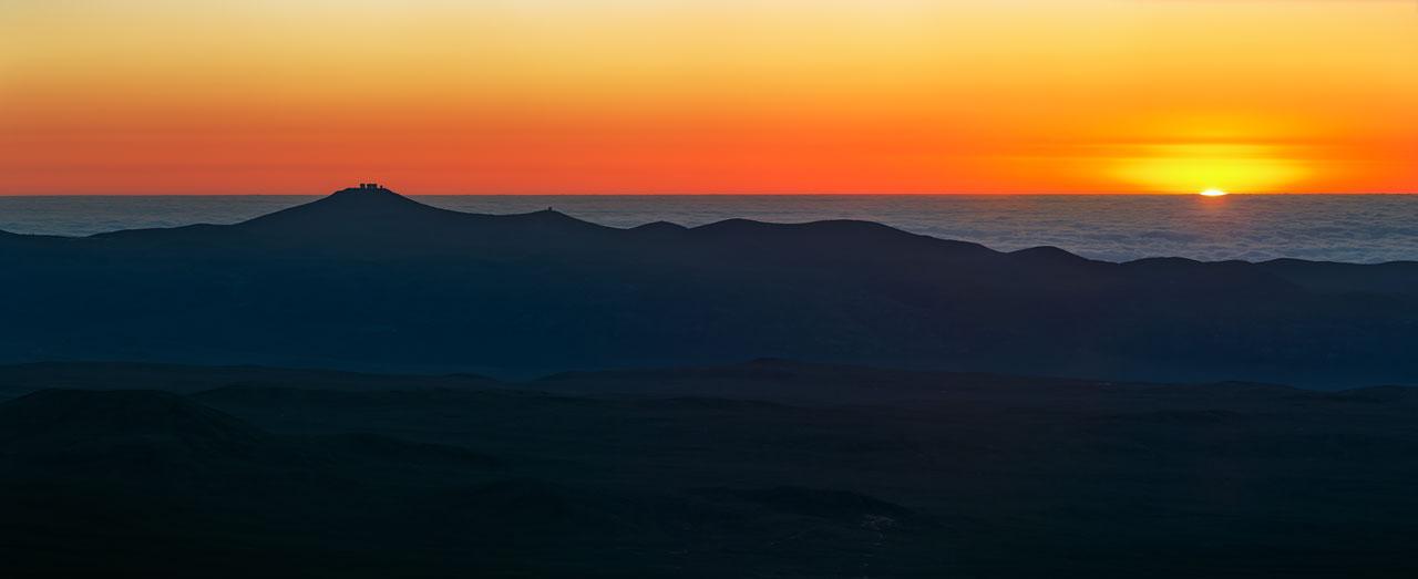 Deep Fiery Sunset at Paranal