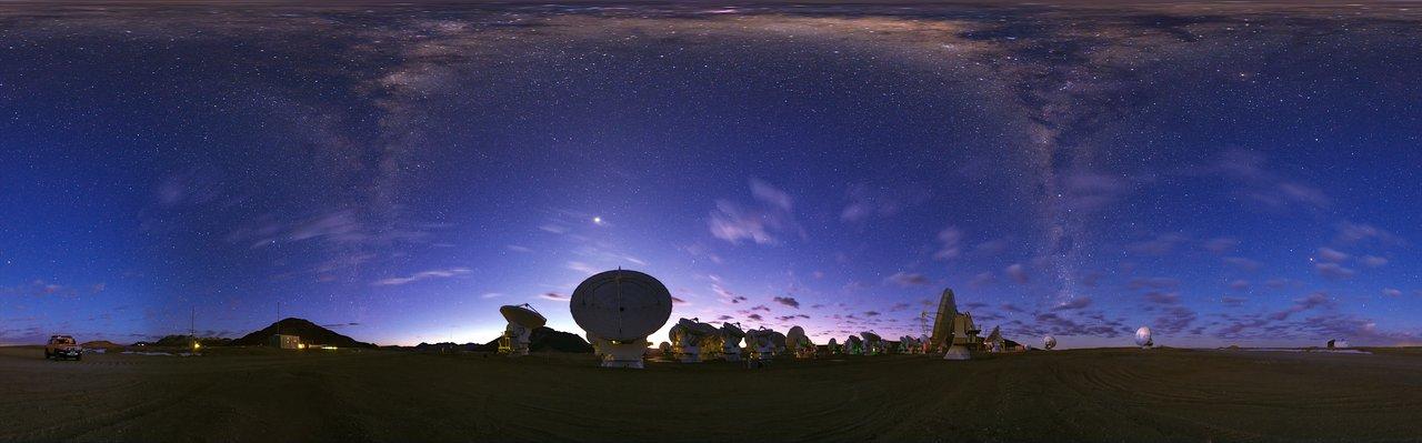 Panorama view of ALMA   ESO