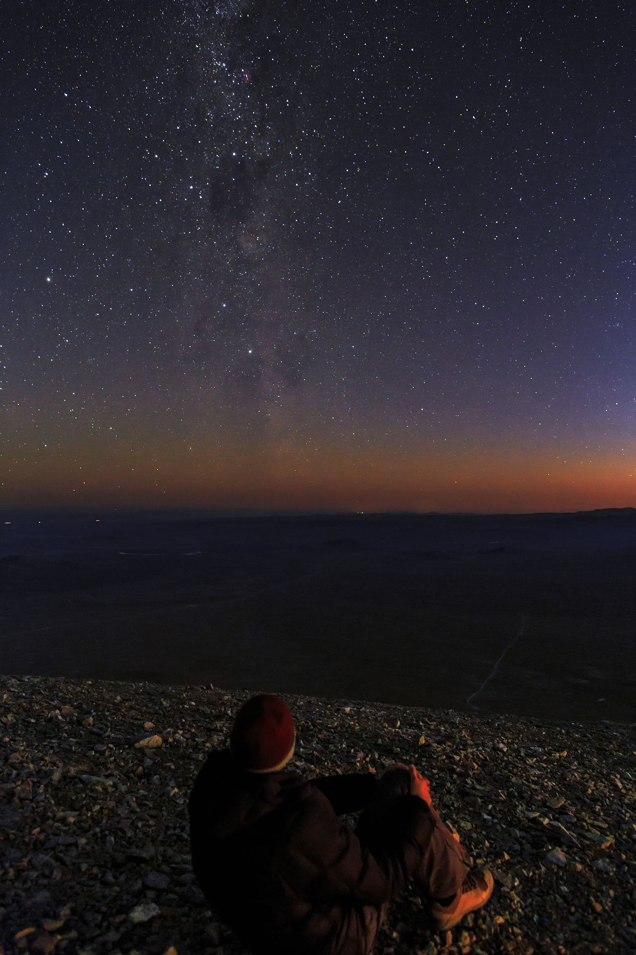 Gazing at the Chilean Night Sky