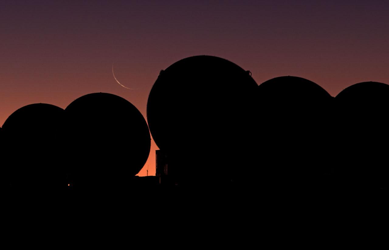 Crescent Moon over ALMA
