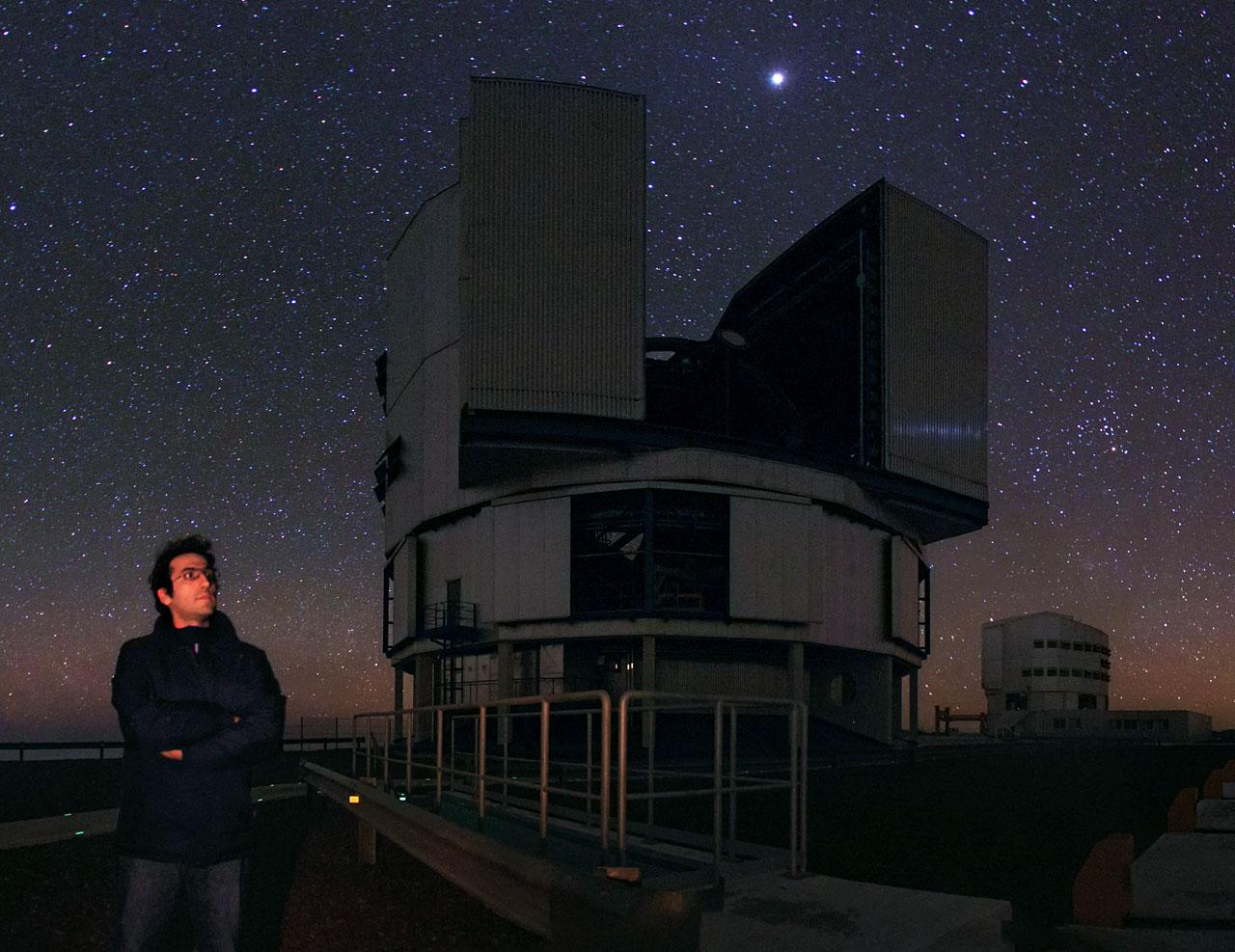 Babak Tafreshi at ESO Paranal