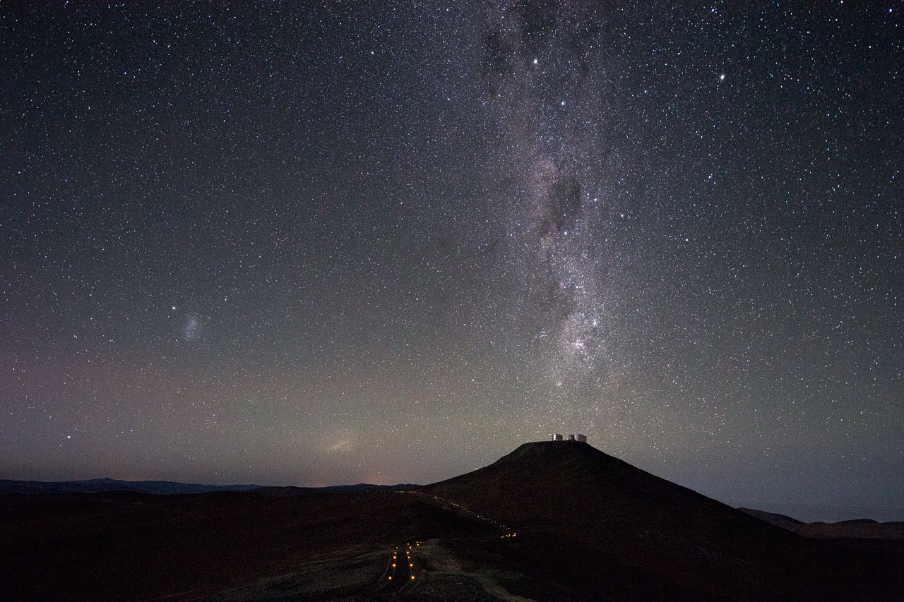 Milky Way Points Down to Cerro Paranal