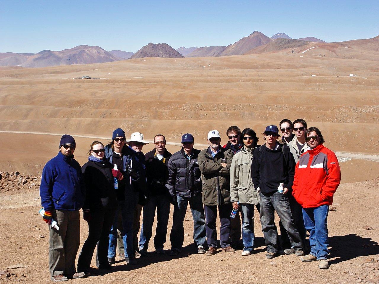 UK press delegation at Cerro Chico