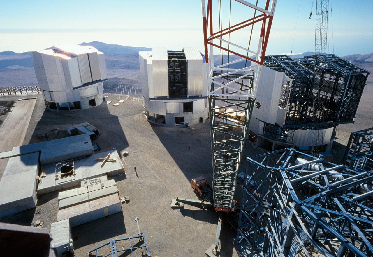 Construction Crane on the VLT PLatform