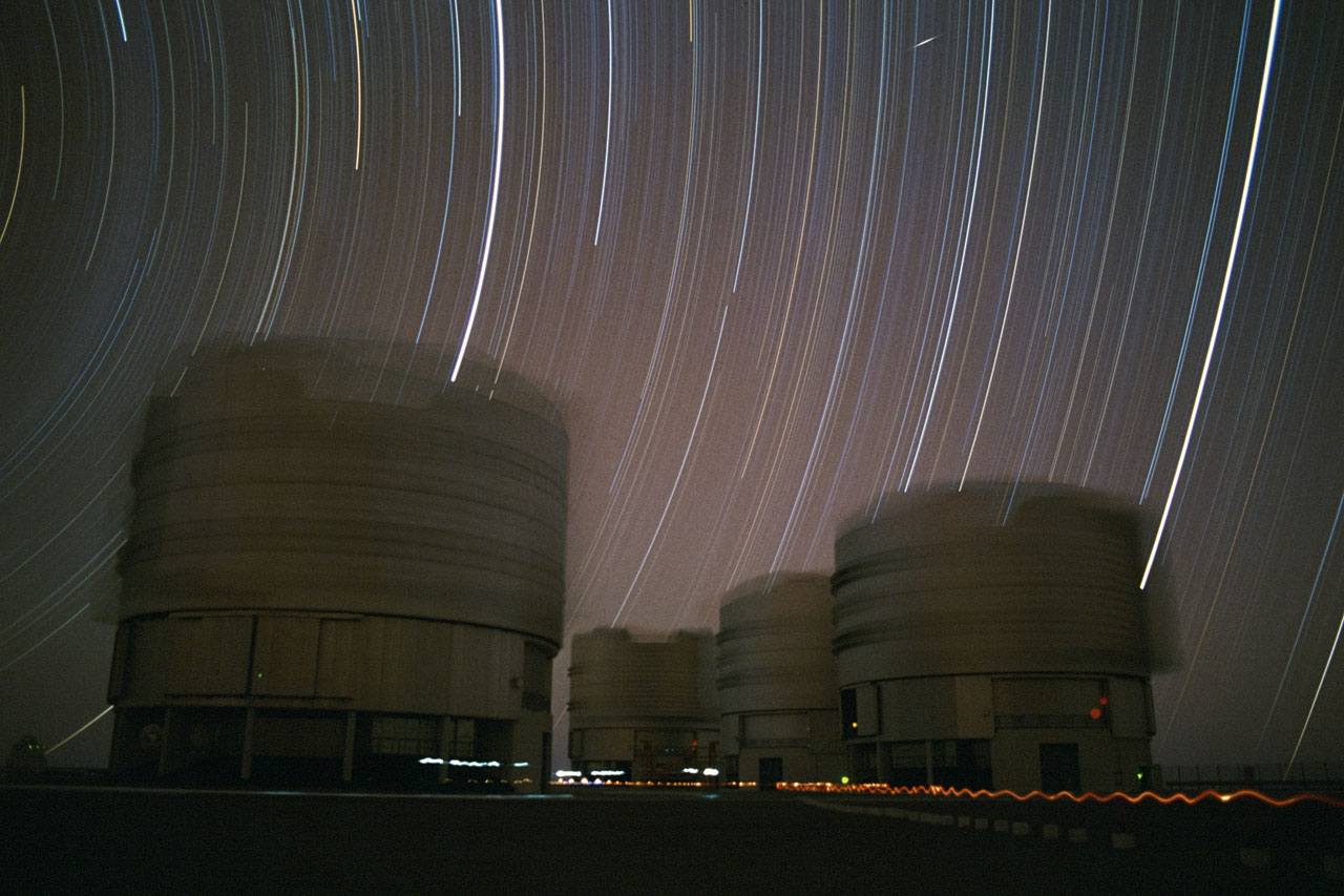 Star Trails Above the VLT