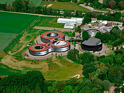 Aerial view of the ESO Headquarters