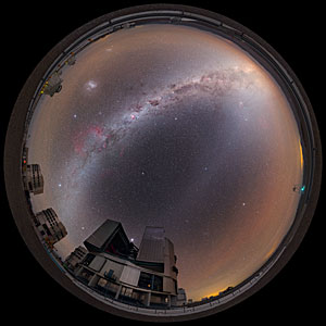 View above the Very Large Telescope