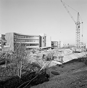 Headquarters exterior under construction