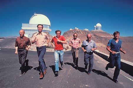 La Silla staff in 1980