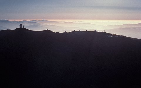 Aerial view of La Silla observatory, 1980