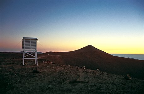 Meteorological station atop of La Montura