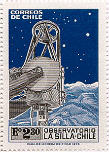 La Silla Post Stamp in Chile