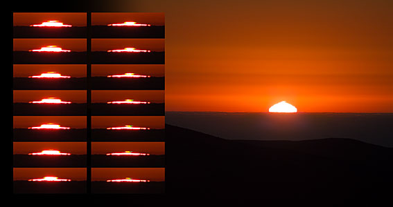 Green flashes at sunset over Paranal