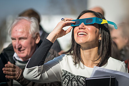 Solar eclipse 2015 at ESO HQ