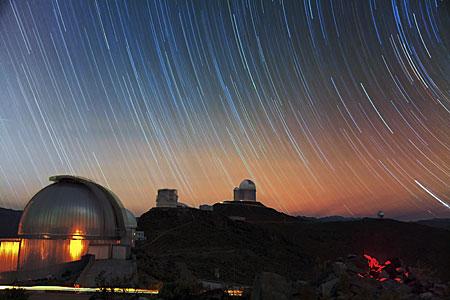 Stars streak over La Silla