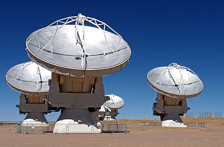 Four of the Stunning ALMA Antennae