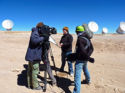 Filming Near ALMA