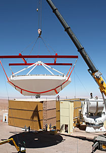 Assembly of Second European ALMA Antenna