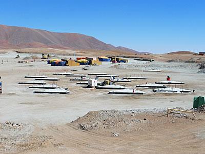 Antenna foundations for ALMA's Atacama Compact Array
