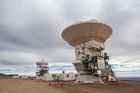 Two Japanese Antennas for ALMA