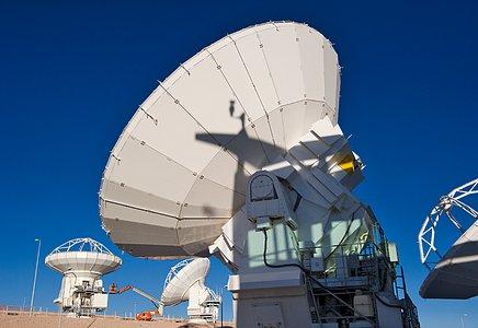 ALMA Antennas at the OSF