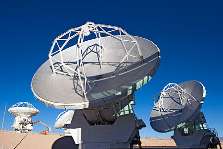 ALMA Antennas at the OSF