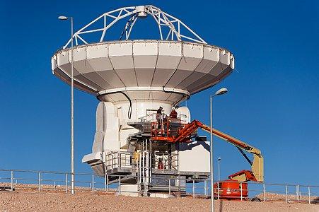 Checking an ALMA Antenna