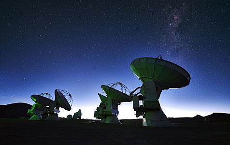 ALMA below a speckling of stars