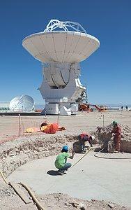 ALMA antenna from Melco at the OSF