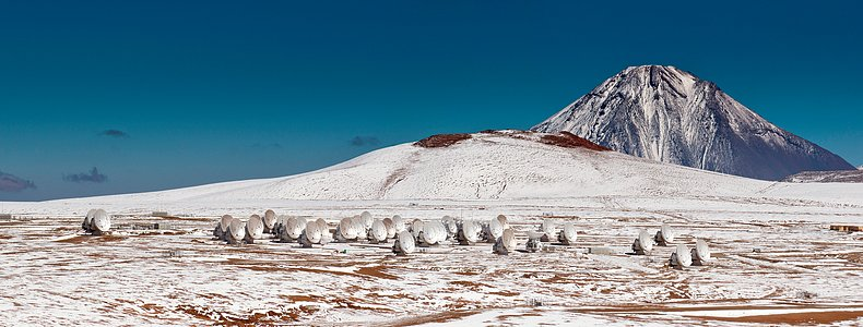 Snow-covered ALMA