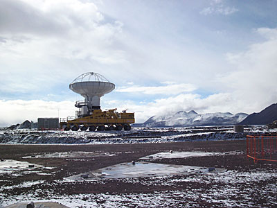 Snow visits the ALMA Site